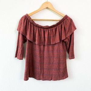 Anthropologie Dolan Left Coast slub knit blouse